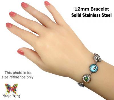 Valentine Heart Glass Photo Bracelet