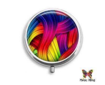 Rainbow Art Pill Box Pill Boxes