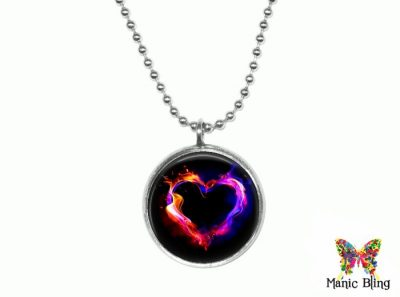 Flaming Heart Pendant Small Small Pendants
