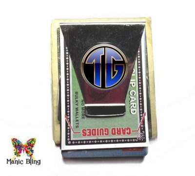 Monogram Money Clip Card Holder Father's Day Gifts