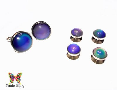 Color Change Mood Cuff Links Shirt Studs