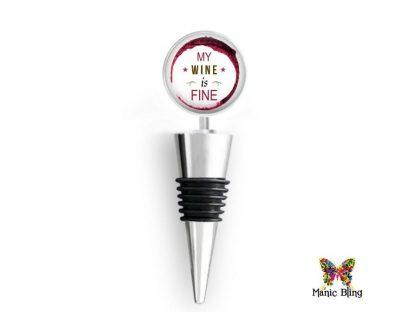 Wine Bottle Stopper Fine Wine Glass Photo Jewelry
