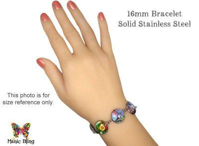 Black Zhostovo Floral Bracelet
