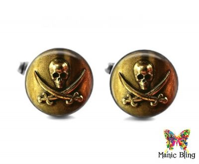Pirate Skull Cufflinks Cufflinks & Tie Tacks