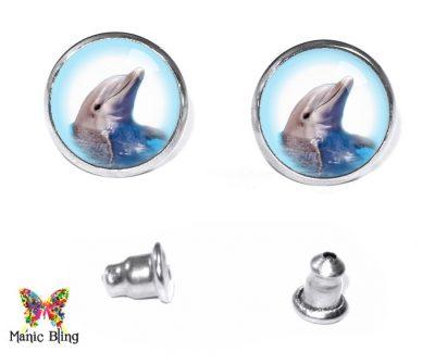 Dolphin Stud Earrings Post Earrings