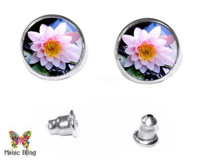 Water Lily Stud Earrings Earrings