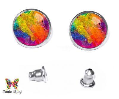 Watercolor Stud Earrings Earrings