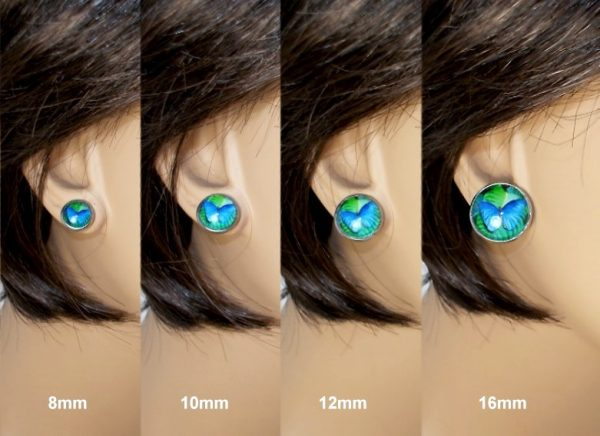 Blue Rose Stud Earrings Earrings