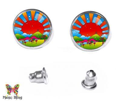 Sunset Stud Earrings Earrings