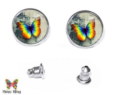 Rainbow Butterfly Stud Earrings Earrings