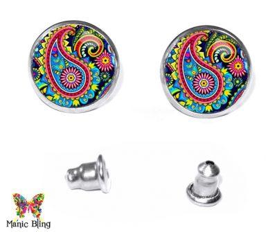Paisley Stud Earrings