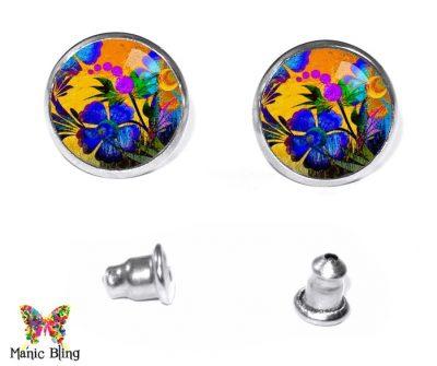 Painted Flowers Stud Earrings Earrings