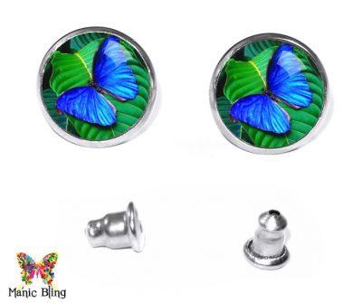 Morpho Butterfly Stud Earrings Earrings