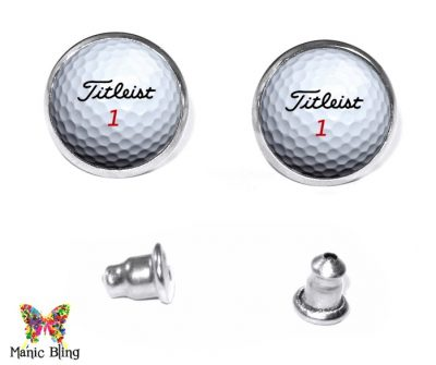 Golf Stud Earrings