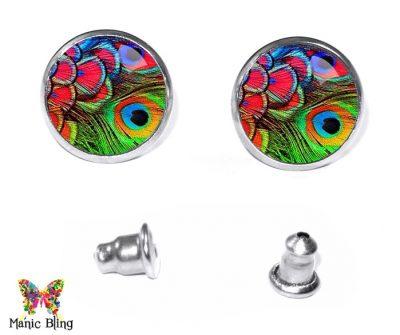 Colorful Feathers Earrings Earrings