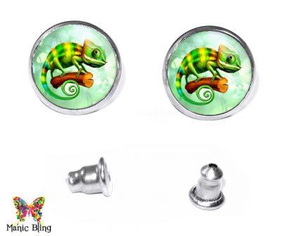 Chameleon Stud Earrings Earrings