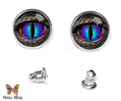 Blue Dragon Eye Stud Earrings