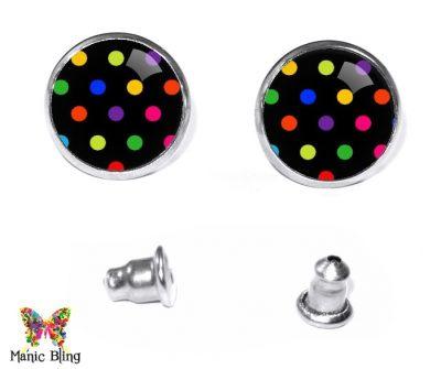 Black Dots Stud Earrings Earrings