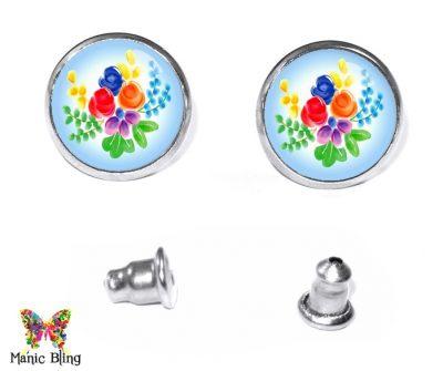 Watercolor Flower Earrings Earrings
