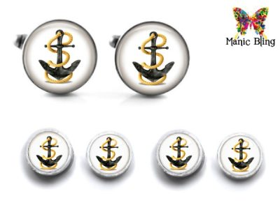 Anchor Cufflink Set