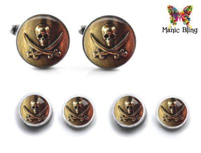 Pirate Skull Cufflink Set
