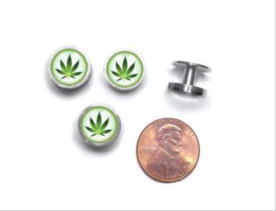 Cannabis Cufflinks and Studs
