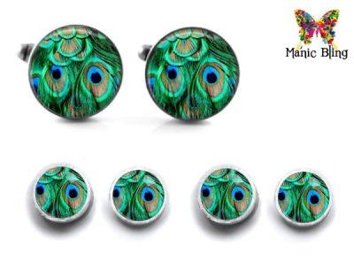 Peacock Cufflink Set Cufflinks & Tie Tacks