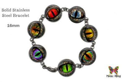Dragon Eye Colorful Glass Photo Bracelet Bracelets
