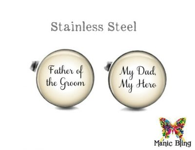 Father of the Groom Cufflinks Tan