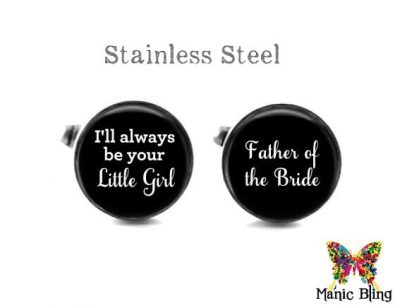 Father of the Bride Cufflinks Black
