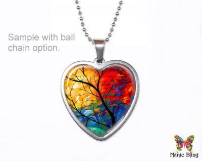 Colorful Heart Love Pendant