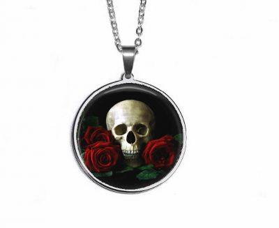 Skull Roses Pendant Halloween
