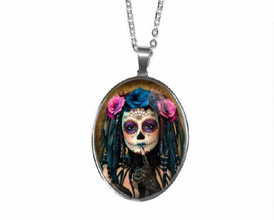 Day of the Dead Pendant Halloween