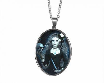 Gothic Girl Pendant Halloween
