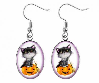 Halloween Cat Earrings Halloween