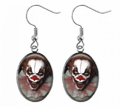 Scary Clown Earrings Halloween