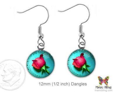 Rose Earrings Dangle Earrings