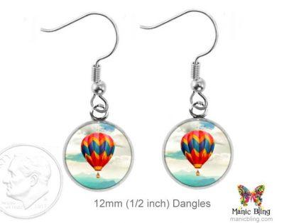 Hot Air Balloon Earrings Dangle Earrings