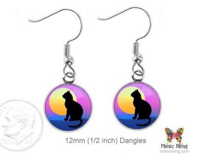 Cat Dangle Earrings Dangle Earrings