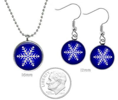Small Snowflake Jewelry Set Christmas & Thanksgiving