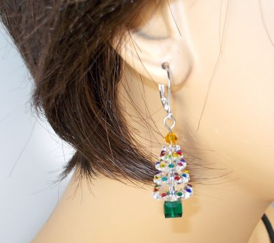 Swarovski Clear Christmas Tree Earrings