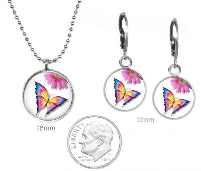 Girls Butterfly Necklace Set Just for Kids