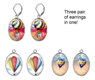 Hot Air Balloon Earring Set Earrings