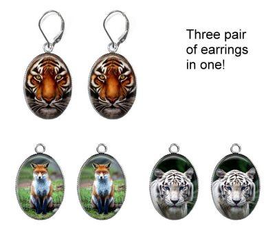 Animals Interchangeable Earrings Earrings