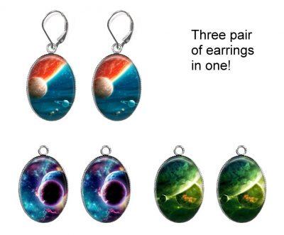 Galaxy Interchangeable Earrings Earrings