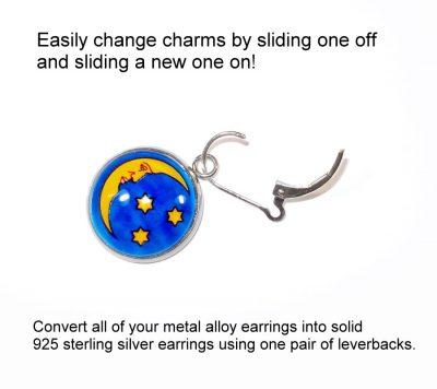 Abstract Interchangeable Earrings