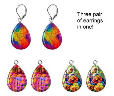 Abstract Interchangeable Earrings Earrings