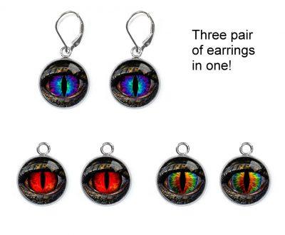 Dragon Eye Interchangeable Earrings Earrings