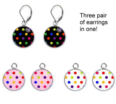 Polka Dot Earrings Set Earrings